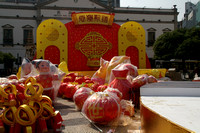 Preparations for Chinese New Year.     Macau, China.