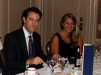 William and Amy. RGC Dinner at Cornell Club - Friday 24 Sept 2010.