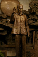 Statue of Ho chi Minh.     Ho Chi Minh museum in Hanoi.